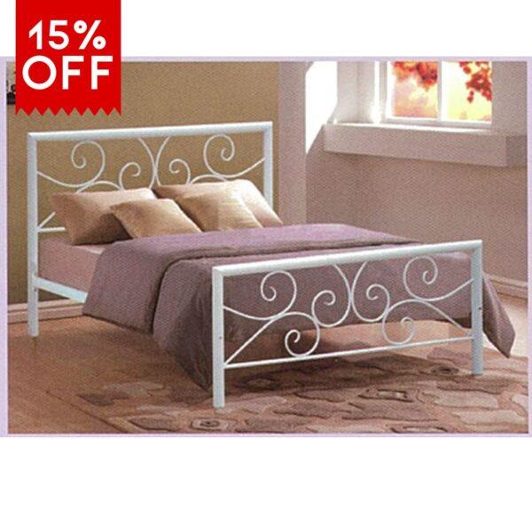 15% off serina queen metal bed